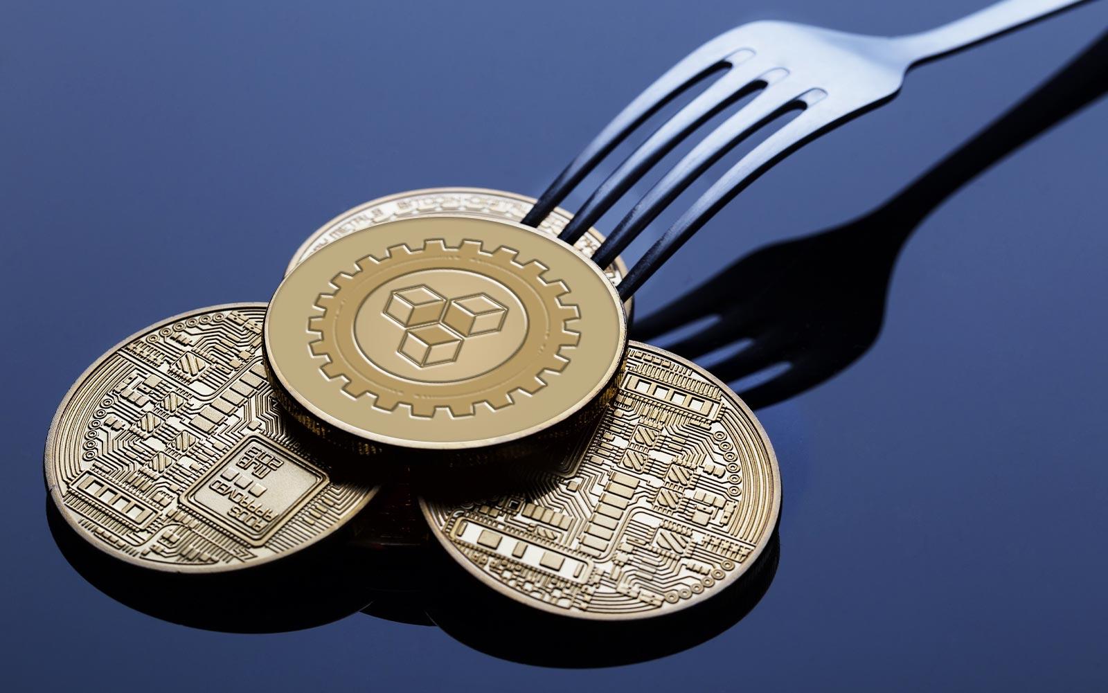 qué tiene que ver un tenedor y la blockchain